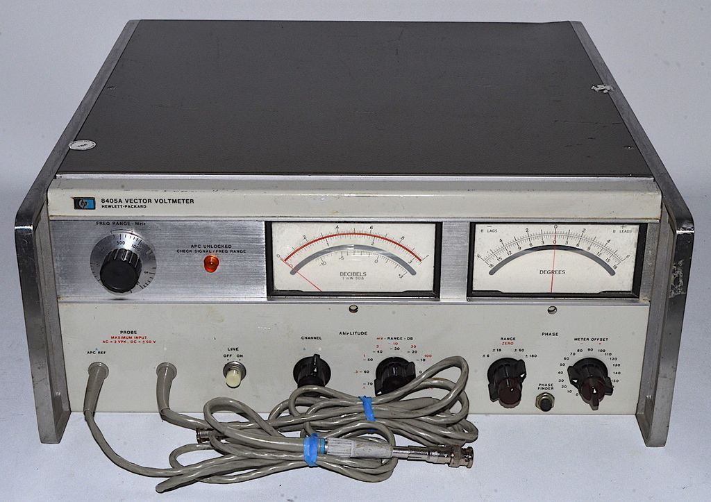 1024x723 Hp 8405a Vector Voltmeter Used, Power On Tested Hewlett Packard