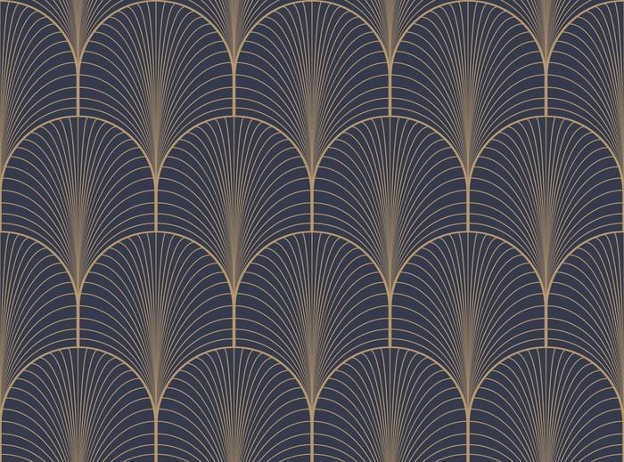 700x519 Vintage Tan Blue And Brown Seamless Art Deco Wallpaper Pattern