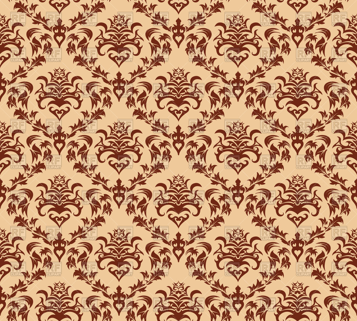 1200x1079 Damask Seamless Pattern