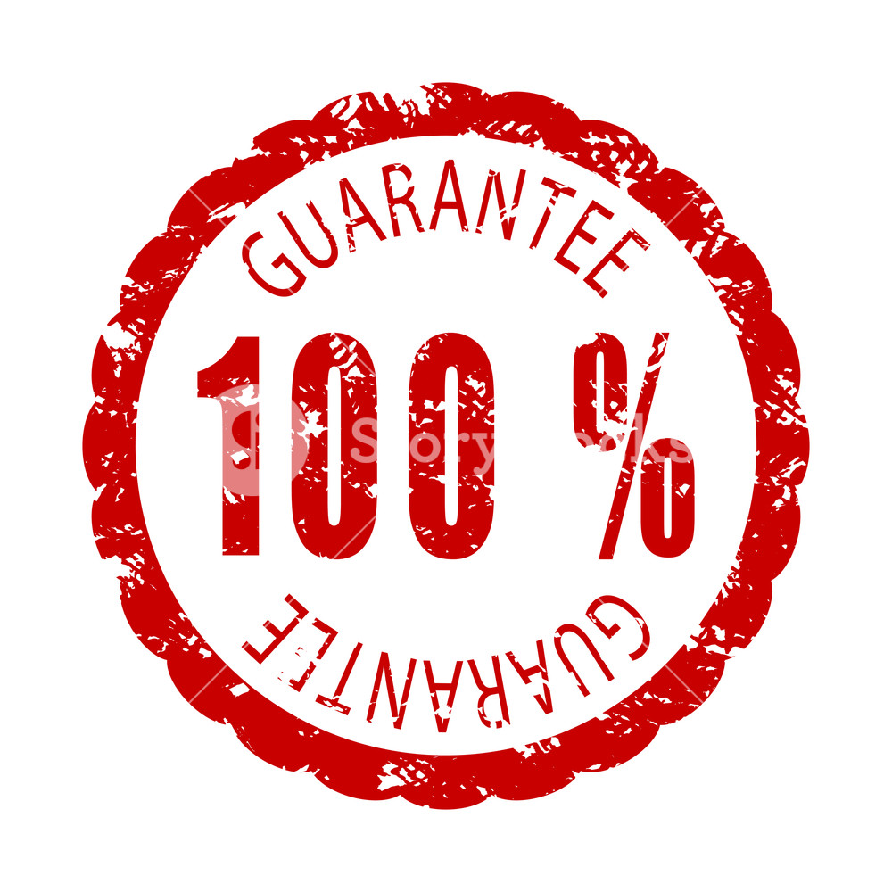 1000x1000 Guarantee Rubber Stamp. Vector Warranty Stamp, Guarantee And