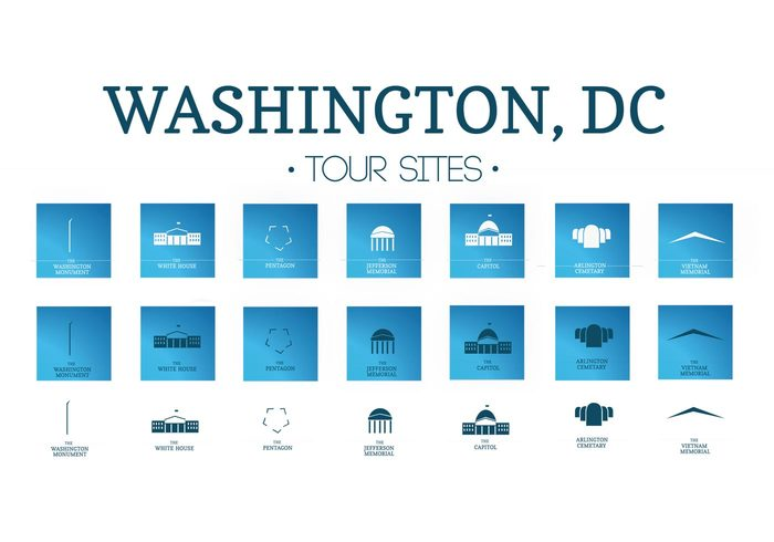 700x490 Icons Vector Pack Of Washington, Dc 143855