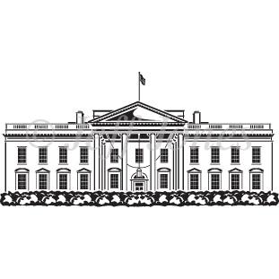 311x311 Washington Dc White House Vector Art Illustration Image