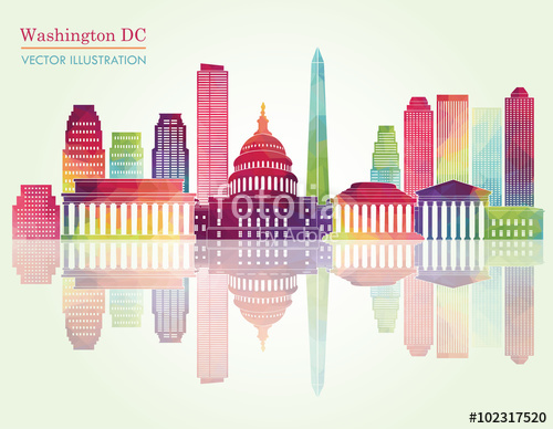 500x388 Washington Dc Skyline. Vector Illustration Stock Image And