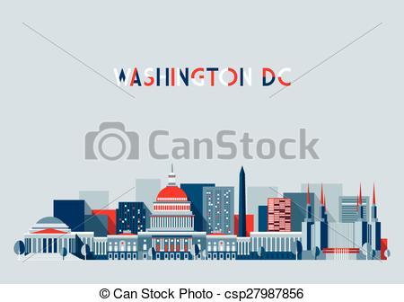 450x336 Washington Dc Illustration Skyline Flat Design. Washington, City