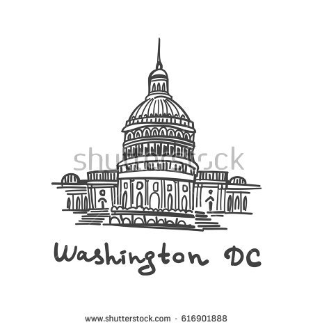 450x470 Collection Of Washington Dc Capitol Drawing High Quality