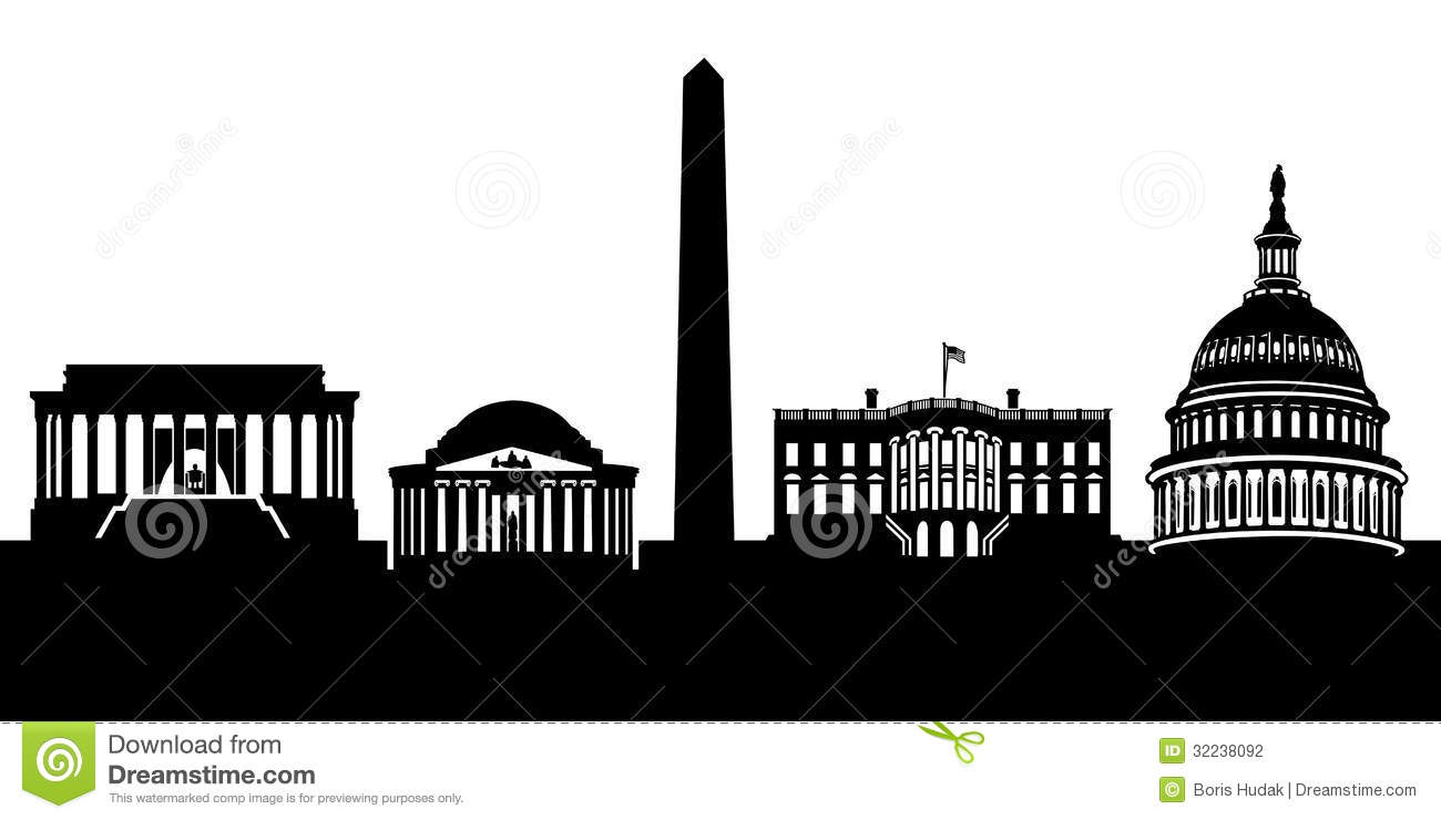 1300x740 Collection Of Washington Dc Skyline Clipart High Quality