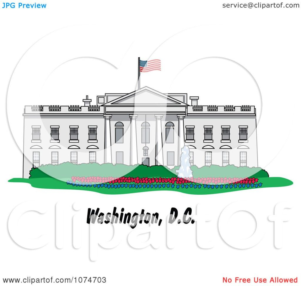 1024x971 Clipart The White House Building In Washington Dc Royalty Free