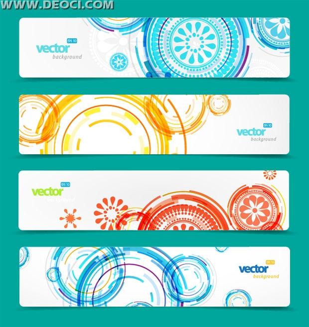 620x657 4 Set Of Vector Website Banner Design Templates Background Free