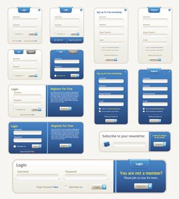 360x400 Site Elements And Web Design Buttons Vectors