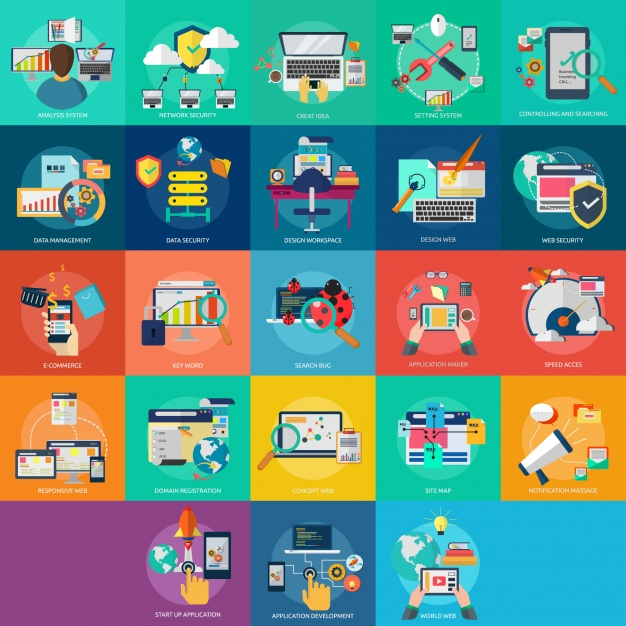 626x626 Web Designs Collection Vector Free Download