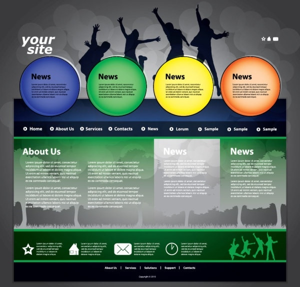 600x574 The Trend Of Dynamic Website Templates 03 Vector Free Vector In