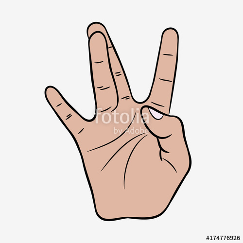 500x500 Hip Hop Hand Gesture. West Coast Rap Sign. Vector Illustration