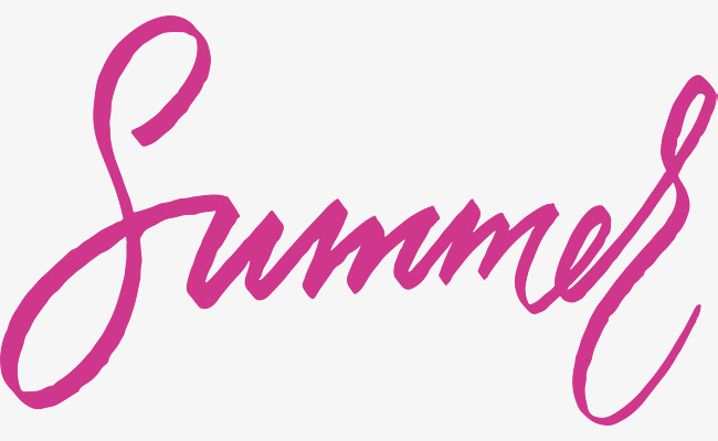 650x400 Pink Summer Art Words, Vector Png, English, English Art Word Png