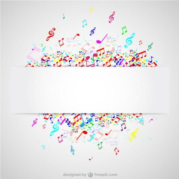 626x626 Notas Musicales De Colores Fotos Y Vectores Gratis Marcos