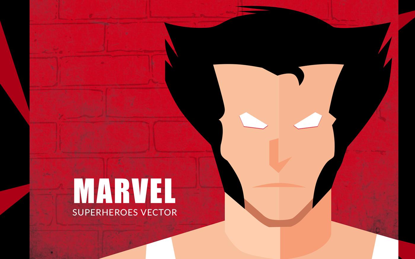 1400x875 Marvel Superheroes Vector Design On Behance