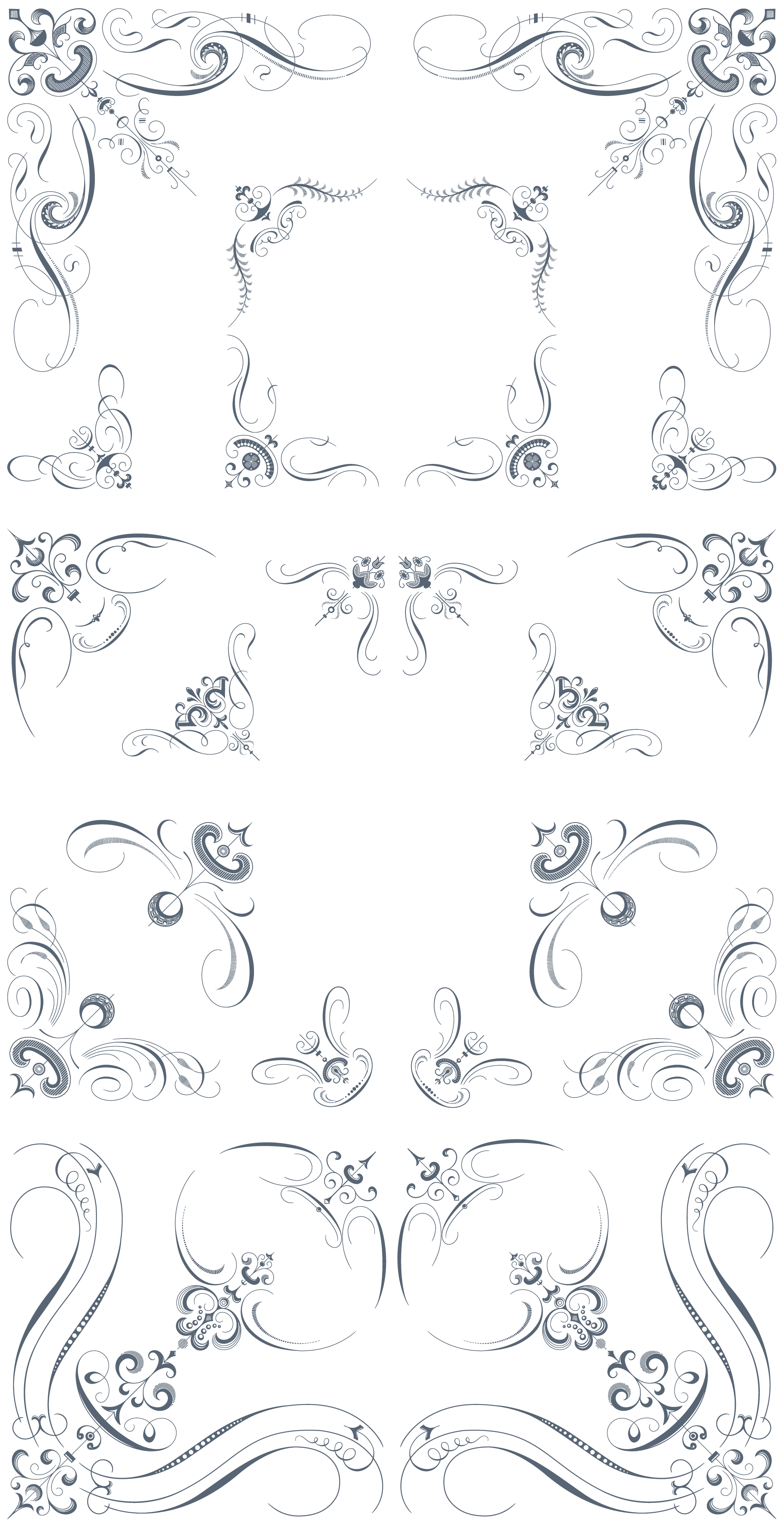 1920x3744 Luxurious Flourishes Vector Pack