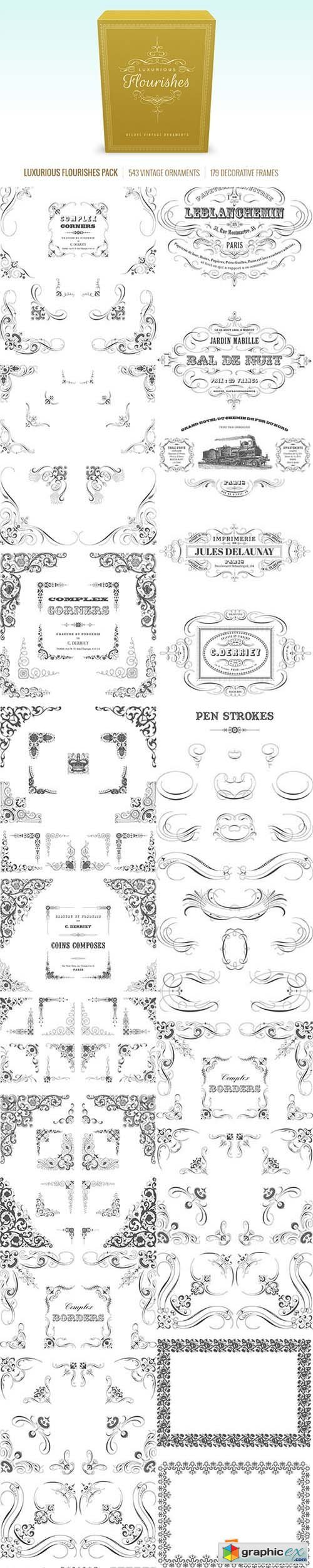 500x2500 Vectorian Luxurious Flourishes Pack Free Download Vector Stock
