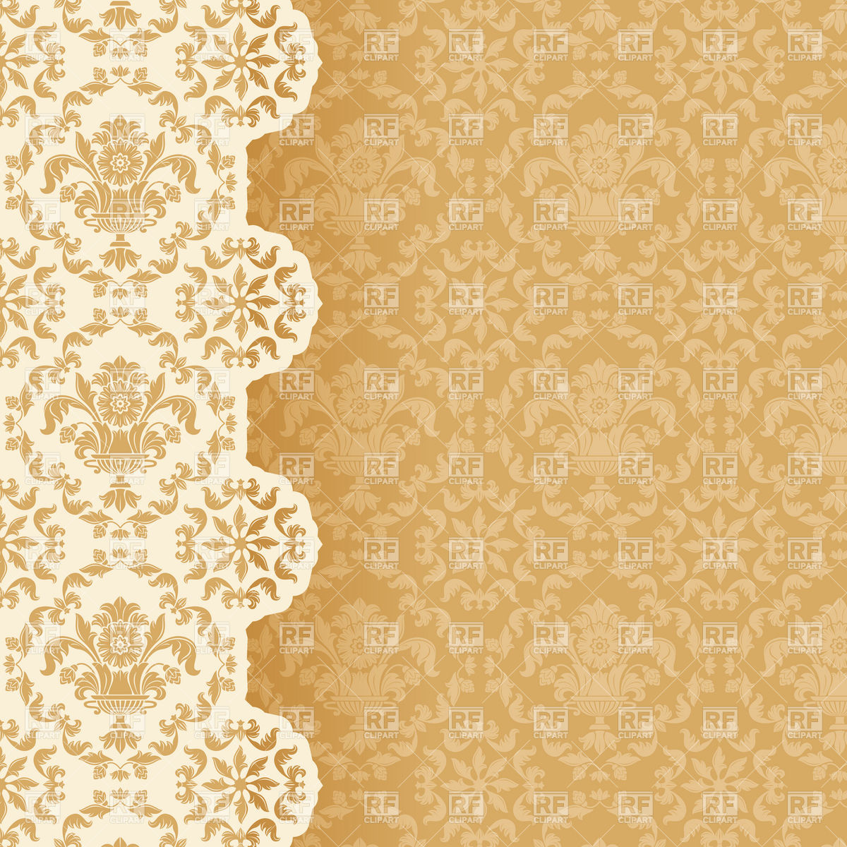 1200x1200 Victorian Style Wallpaper Background Vector Image Vector Artwork