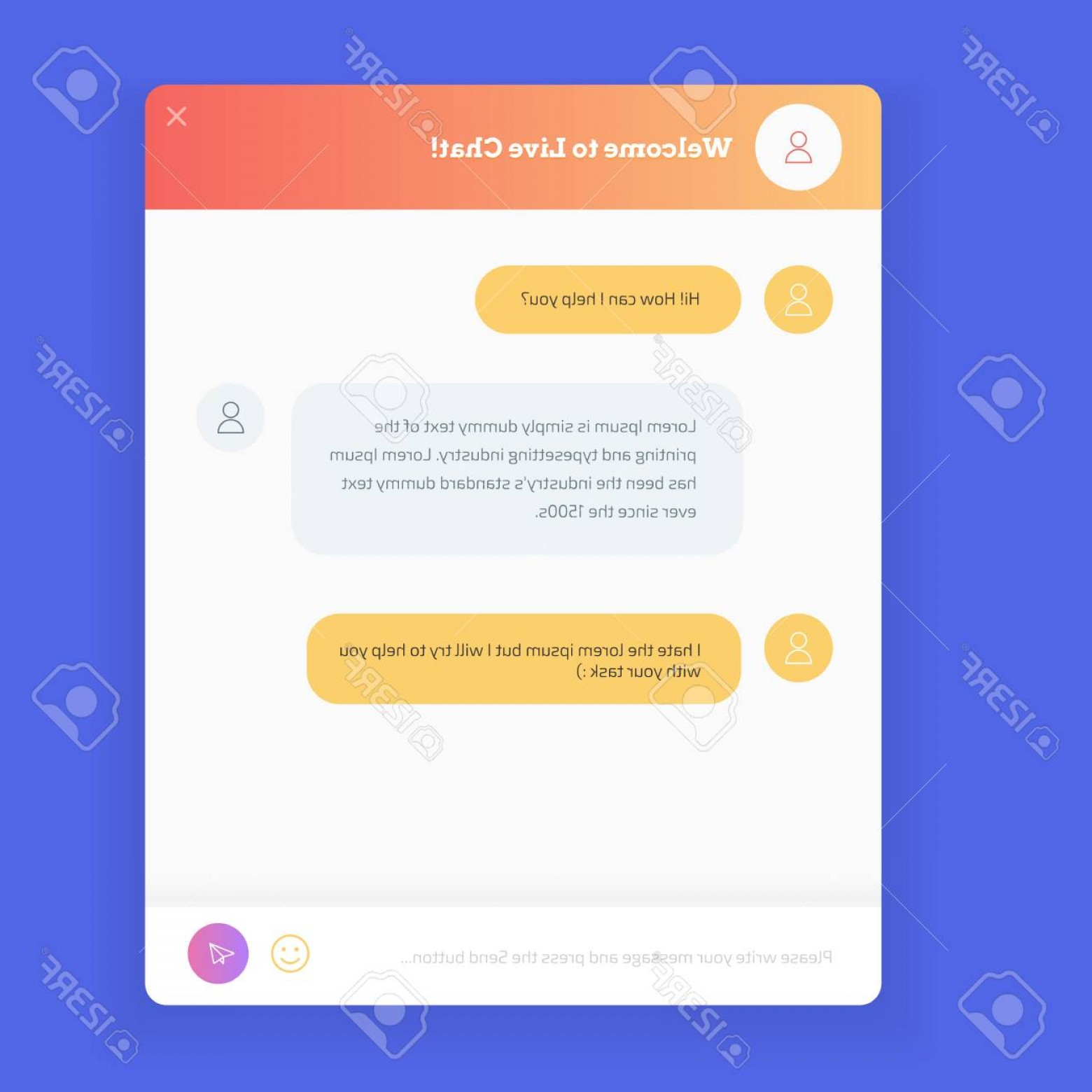 1560x1560 Photostock Vector Live Chat Window To Obtain Live Support On