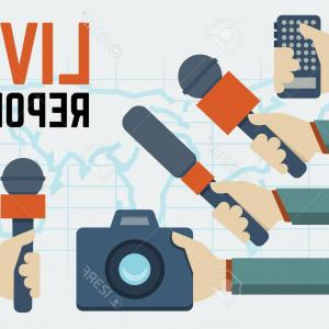 300x300 Photostock Vector Vector Live Report Live News Concept Hands Of