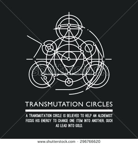 450x470 Transmutation Circle Circles Motion Sacred Geometry Stock Vector