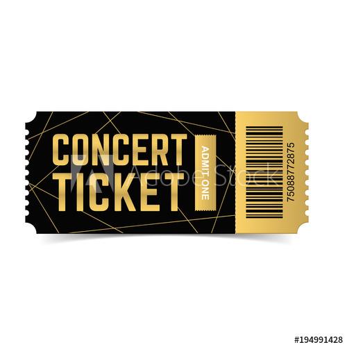 500x500 Golden, Black Vector Live, Music, Dance Concert, Festival Ticket