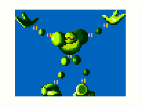 549x413 Vectorman (Genesis Sprite) Art Prints By Winscometjump Redbubble
