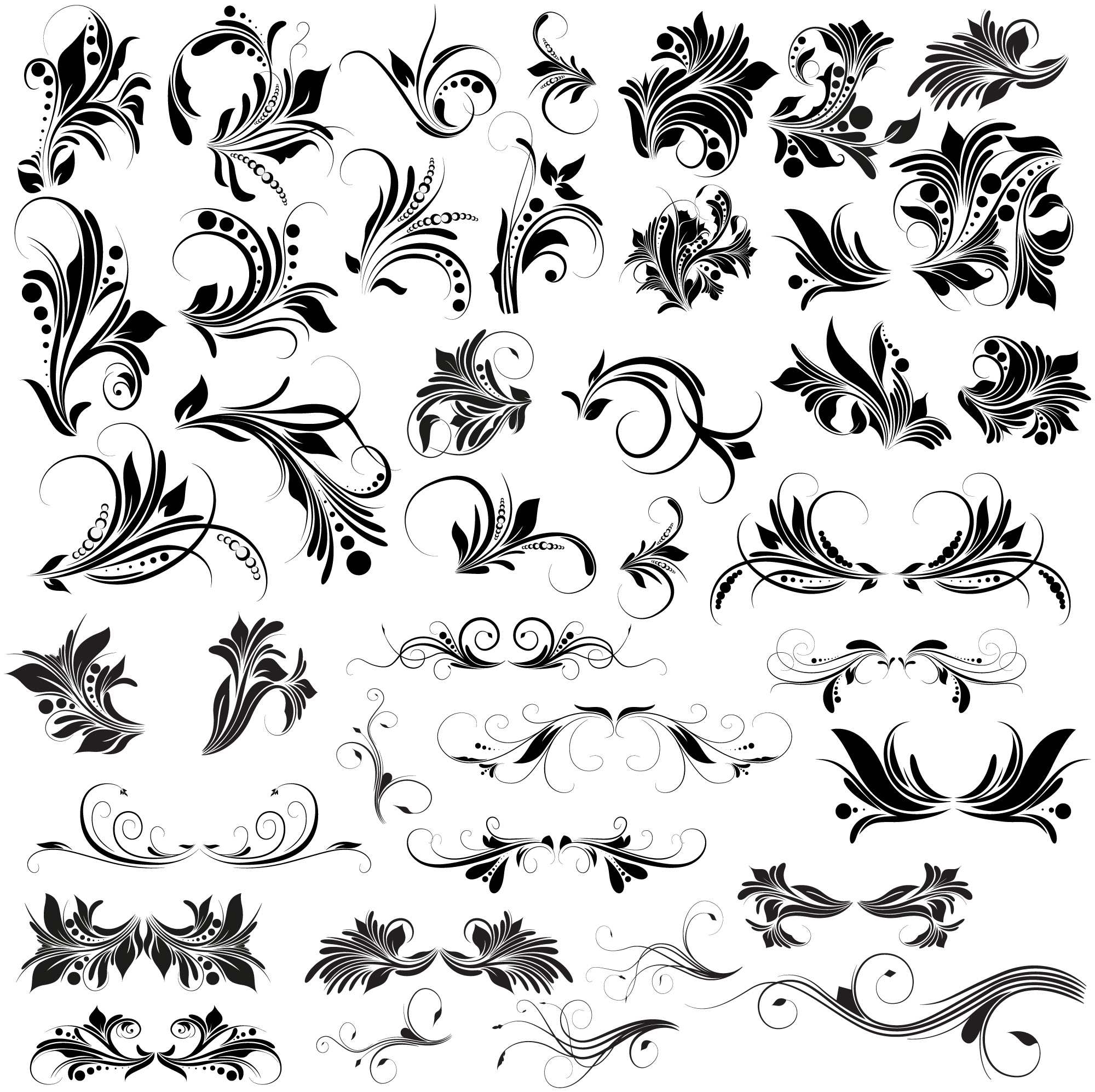 2000x1994 Floral Vectors, Brushes, Png, Shapes Amp Pictures