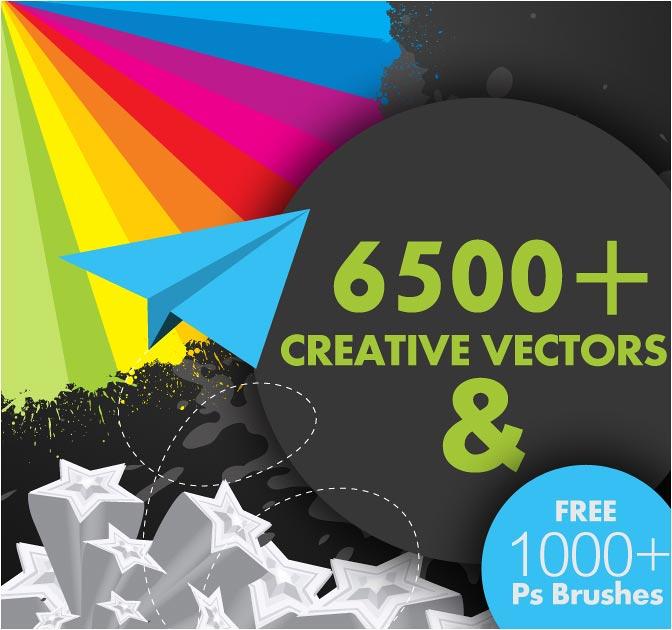 672x630 Last Day 6,500 Vectors + 1,000 Photoshop Brushes