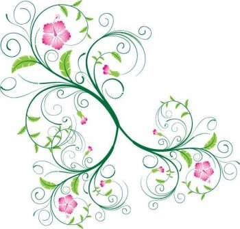 350x335 Swirl Floral Vector Photoshop Eps Swirl Floral Vector Flower