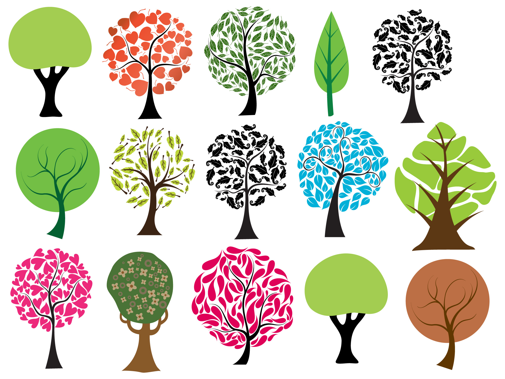 2000x1500 Trees Vectors, Brushes, Png, Pictures And Shapes