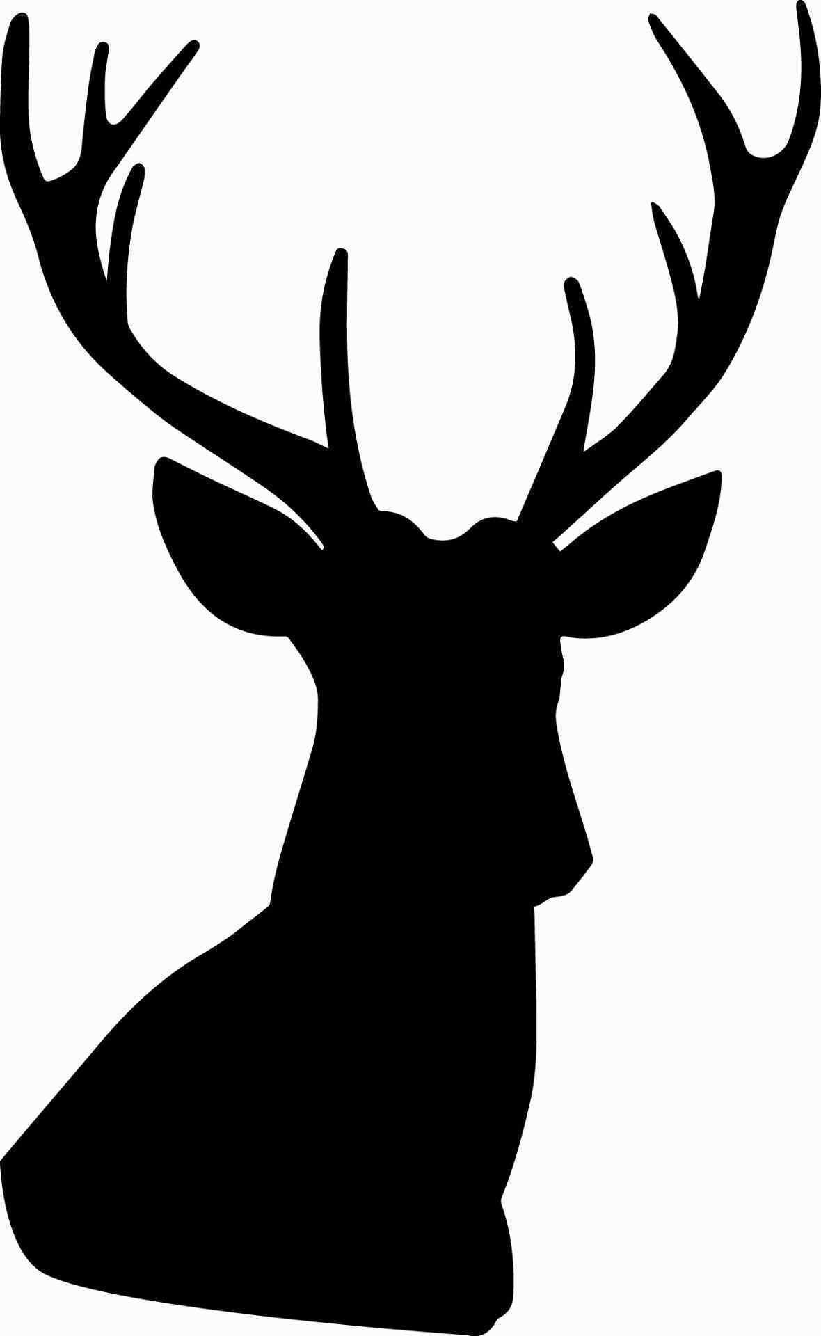 1180x1920 Reindeer Silhouette Template Inspirational Hunting Deer Head Clip