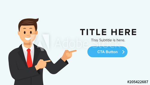 500x282 Vector Site Banner Template With A Man Pointing