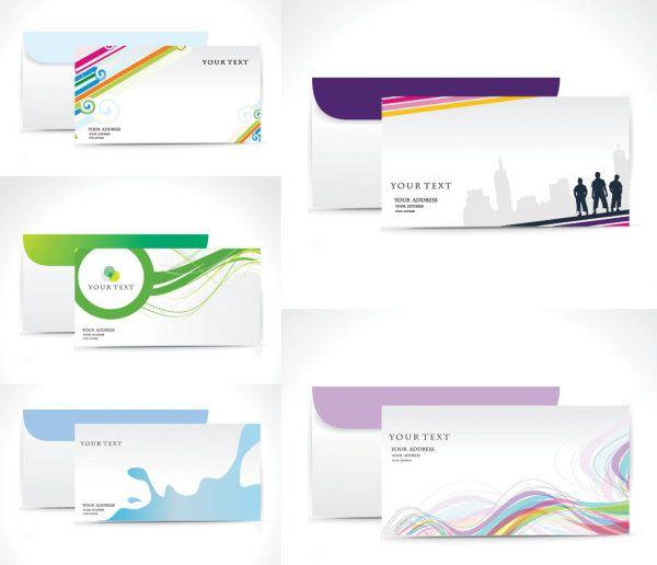 600x516 Business Envelope Vector Template 5 Simple Envelope Design Vector