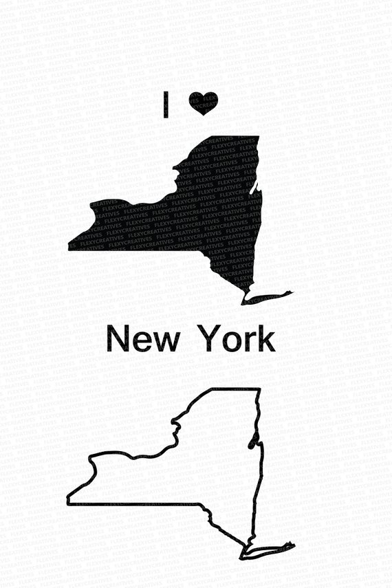 570x855 New York Map Clip Art New York Vector State Clipart New York Clip