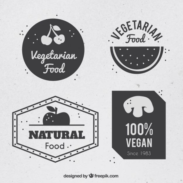 626x626 Set Of Vegan Logos Vector Free Download