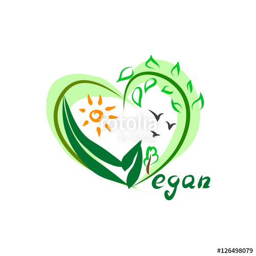 500x500 Vegan Logo Vector Stock Image And Royalty Free Vector Files On