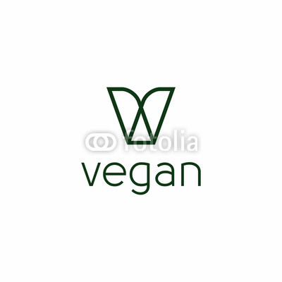 400x400 Green Vegan Logo Vector Buy Photos Ap Images Detailview