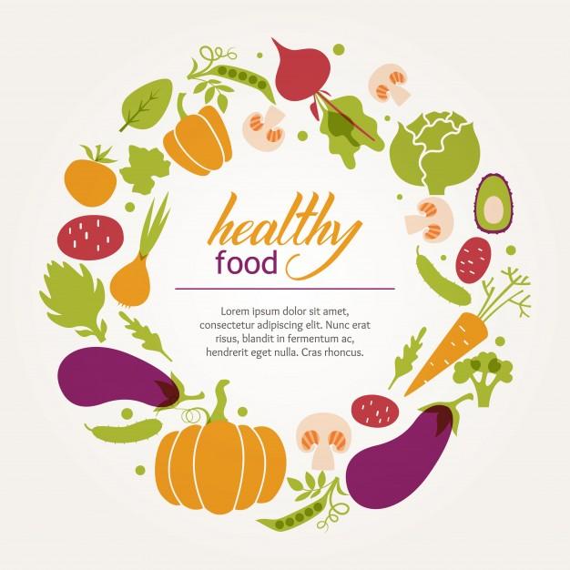 626x626 Round Frame Of Fresh Juicy Vegetables. Healthy Diet, Vegetarian