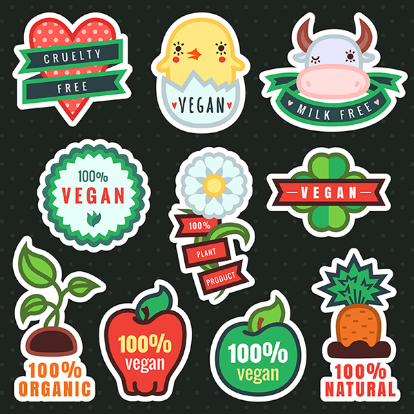 600x600 Vector Vegan Stickers And Illustrations On Behance