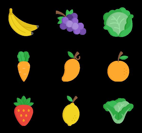 600x564 Vegan Vector Fruit Vegetable ~ Frames ~ Illustrations ~ Hd Images