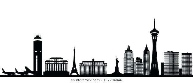 648x280 Las Vegas Skyline Art Digital Art Skyline Panorama By Aged Pixel