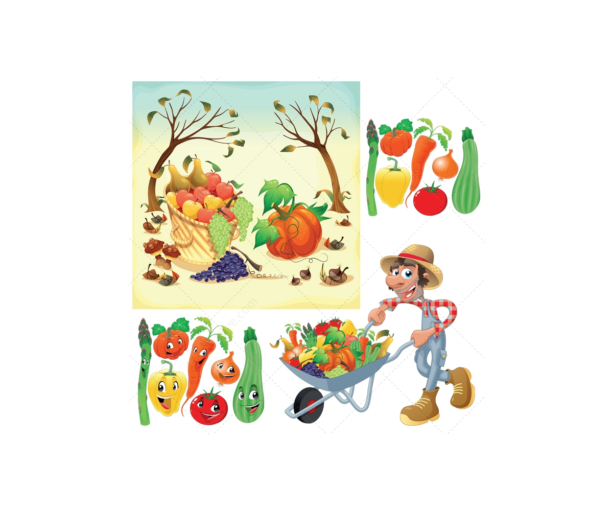 1200x1000 Harvest Illustration And Garden Vectors