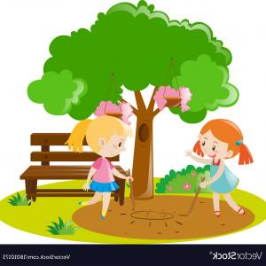 300x300 Photostock Vector Vegetable Garden Vector Illustration With