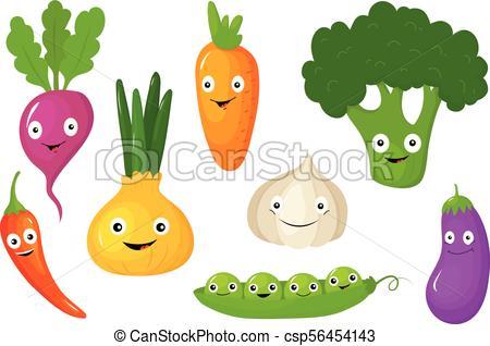 450x318 Vegetables Set, Healthy Vegetarian Food Vector Illustrations On A