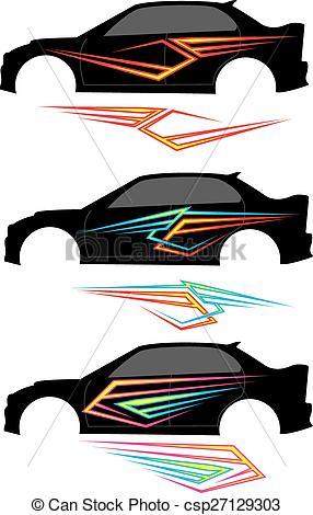 286x470 Vehicle Graphics, Stripe Vinyl Ready Vector Art.