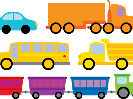 452x336 5 Cartoon Vehicle Design Vector Icons Free 5 Cartoon Vehicle