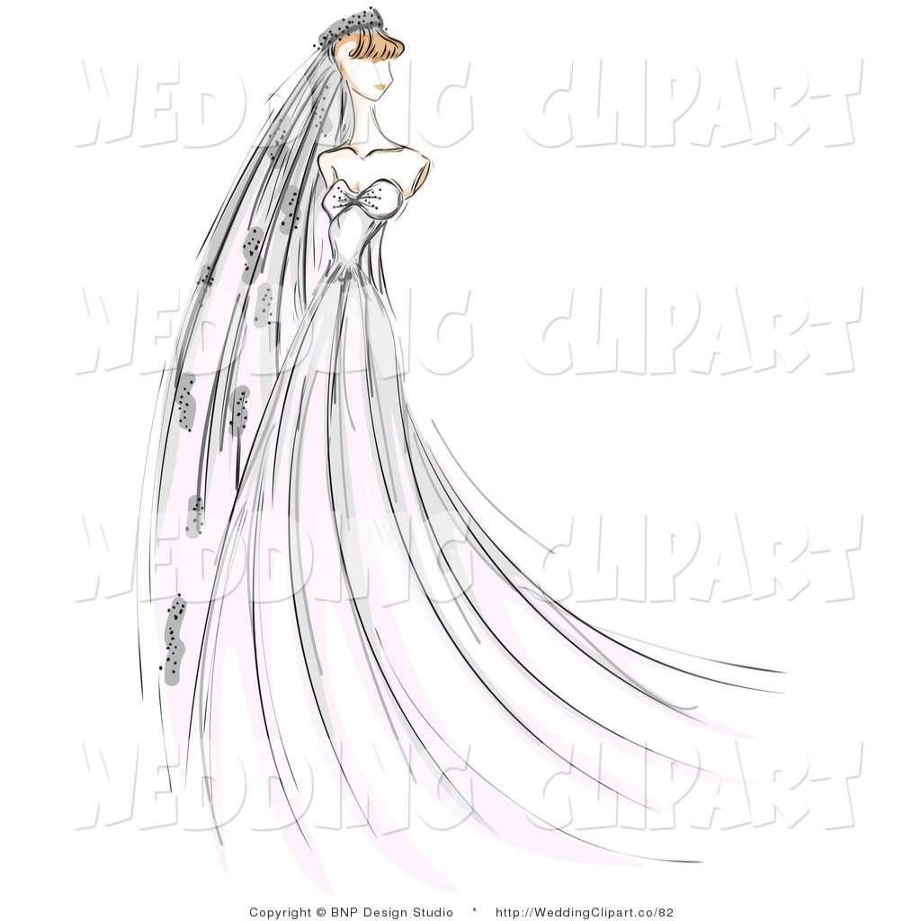 1024x1024 Wedding Veil Vector Inspirational Bride Sketch Clipart 29