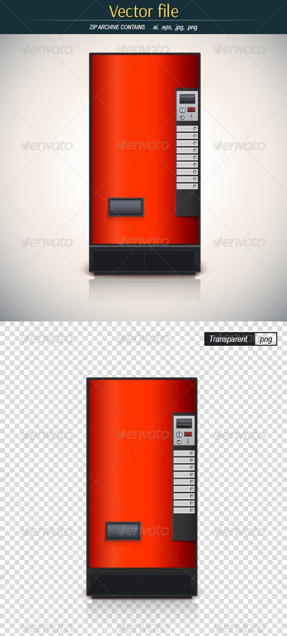 590x1306 Red Vending Machine Vending Machine, Vector File And