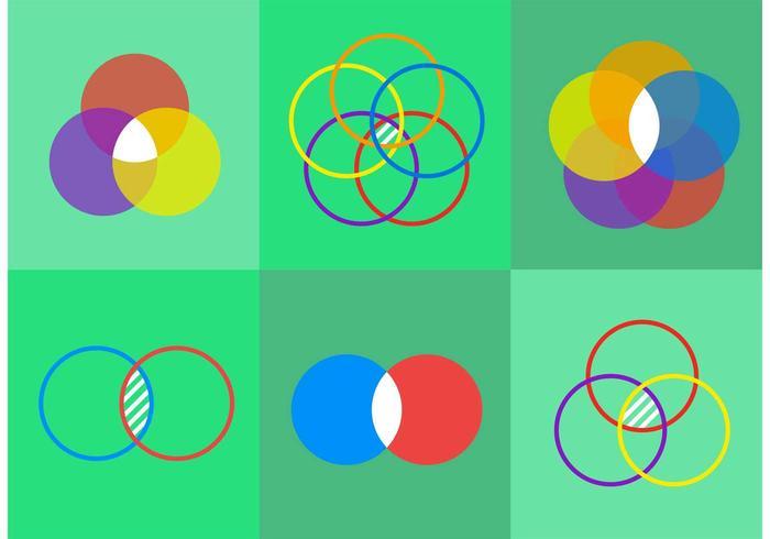 700x490 Venn Diagram Vector Icons